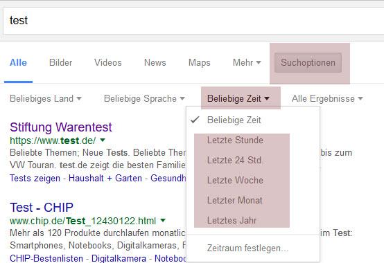 Neues Vorschaubild bei Google 2