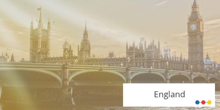 Blick auf London mit Big Ben und Westminster Abbey