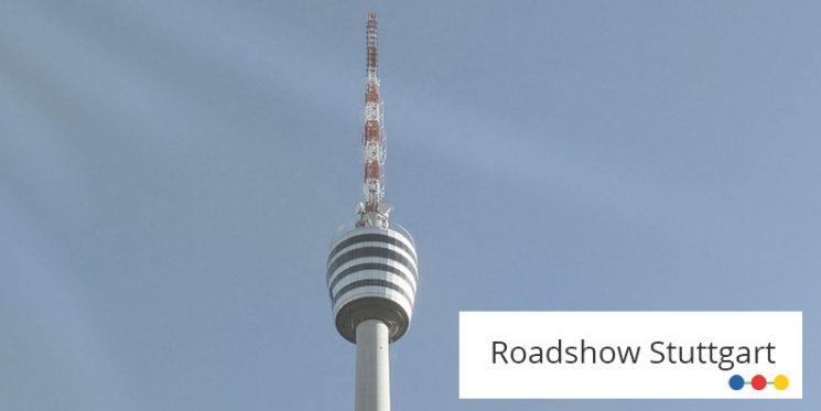 Blick auf Fernsehturm in Stuttgart