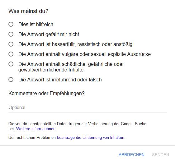 Google Feedback Button