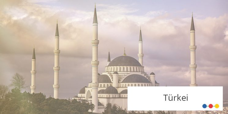 Blick auf Moschee in Istanbul