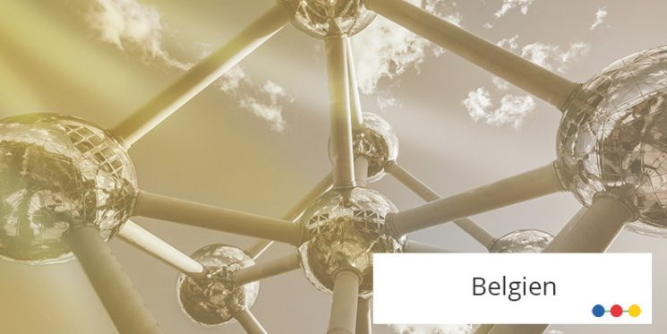 Atomium Wahrzeichen Belgiens aus Froschperspektive